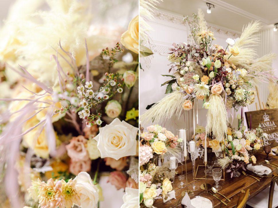 Decor rustic nunta aranjamente florale moho Grand Hotel Italia