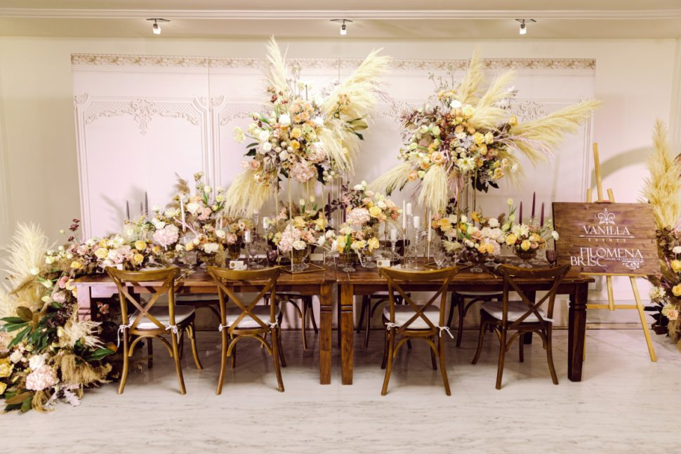 Aranjamente florale decor rustic Grand Hotel Italia