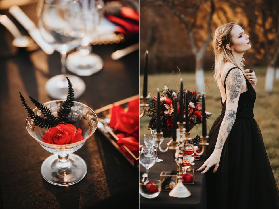 Nunta Archia - rochie de mireasa neagra